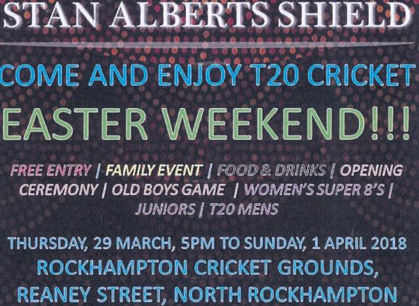 Rockhampton – Stan Alberts Shield – Indigenous T20 Cricket Carnival