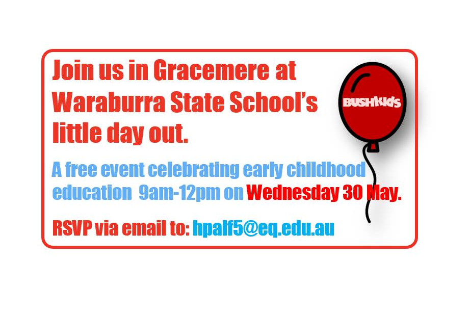 Rockhampton – Waraburra State School's little day out