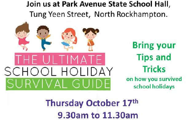 MyTime Playgroup 1 – School Holiday Survival Tips – Rockhampton