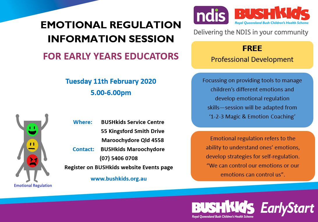 (FULL) Maroochydore – Evening Session – Emotional Regulation Information Session for Early Years Educators