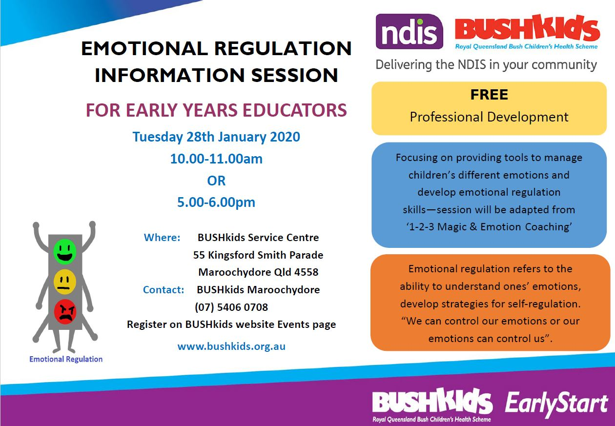 (BOOKED OUT) Maroochydore – Morning Session – Emotional Regulation Information Session for Early Years Educators
