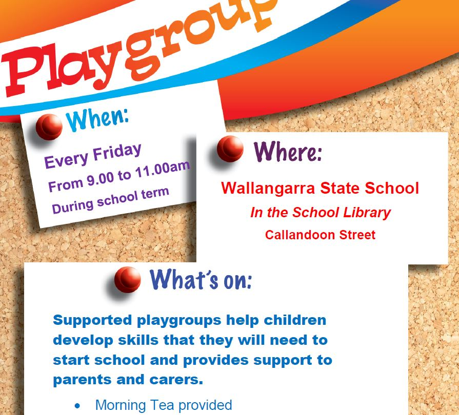 Weekly Playgroups – Wallangarra State School 2021