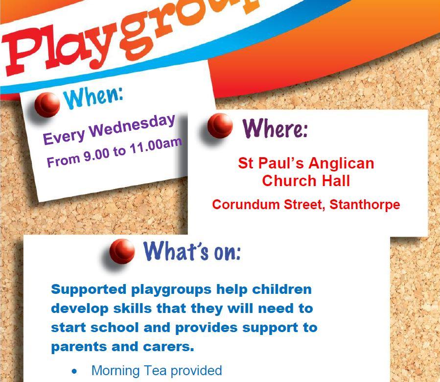 Weekly Playgroups – St Pauls Church 2021