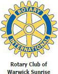 rotary club warwick sunrise logo