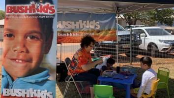 Bushkids Tent set up