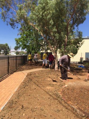 Volunteer working bee - front garden